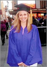 Jess Hopkins Graduation Day New York City
