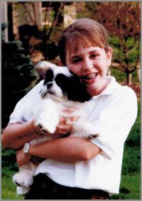 Jess Hopkins Middle School Holding Dog